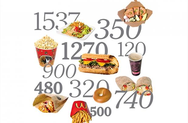 Comidas y sus calorías