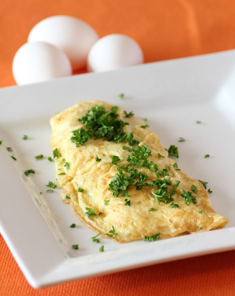 omelette con hierbas