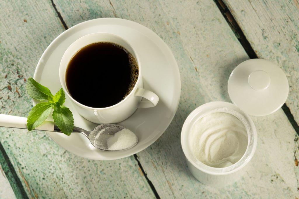 taza de cafe stevia en polvo
