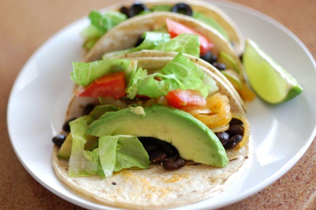 tacos veganos palta