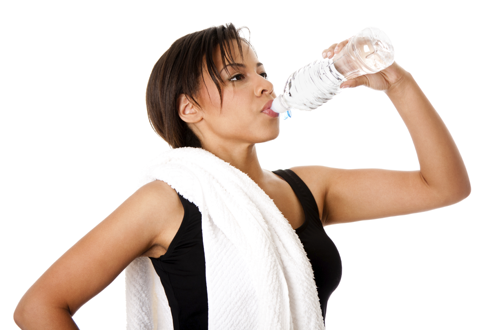 Obesity Person Drinking Water