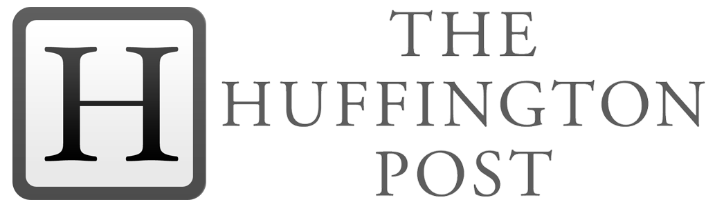 The Huffington Post logo blanco y negro