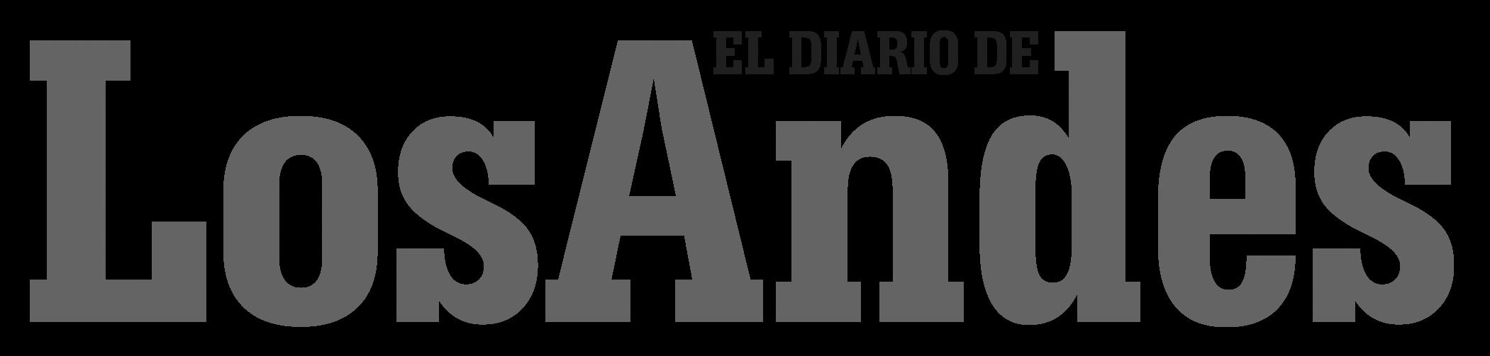 Los Andes logo transparente blanco y negro