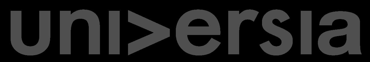 Universia logo blanco y negro