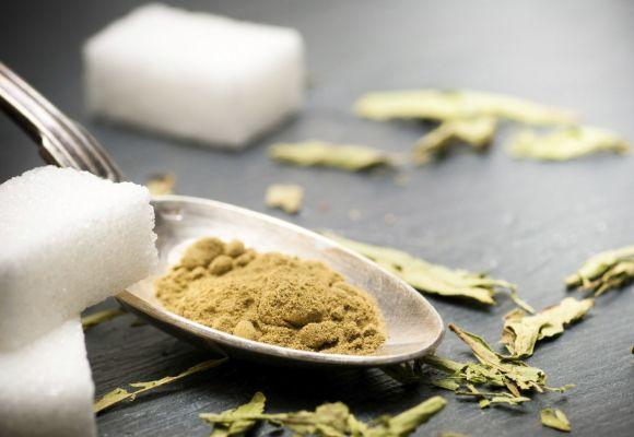 stevia polvo cuchara