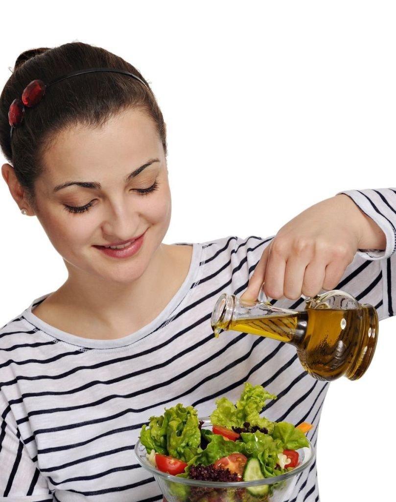 ensalada aceite de oliva