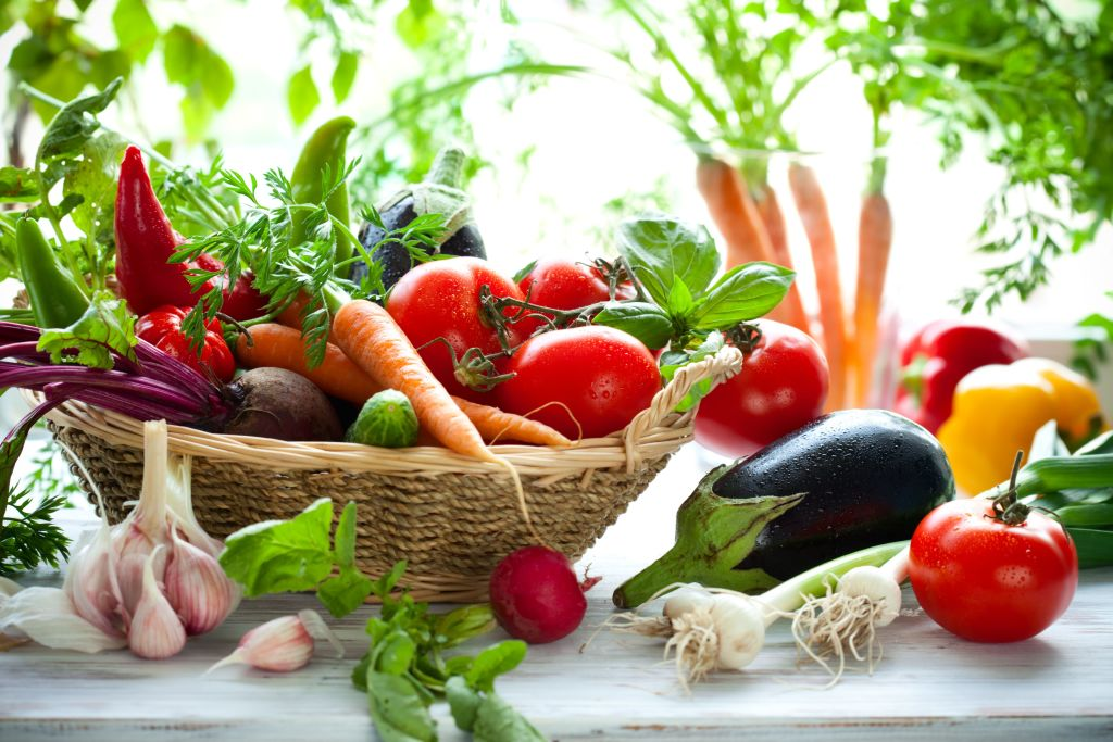 canasta de verduras