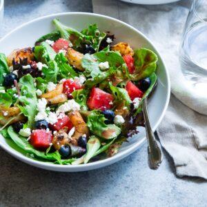 Receta de ensalada griega fácil y rápida