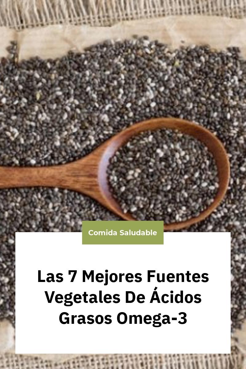 Las 7 Mejores Fuentes Vegetales De Ácidos Grasos Omega-3
