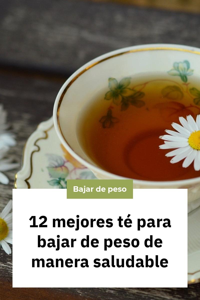12 mejores té para bajar de peso de manera saludable
