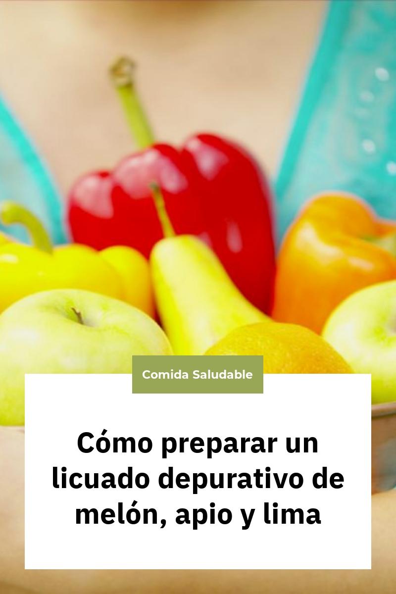Cómo preparar un licuado depurativo de melón, apio y lima
