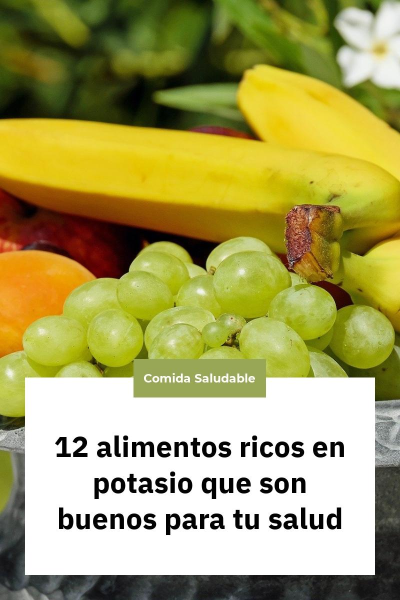 12 alimentos ricos en potasio que son buenos para tu salud