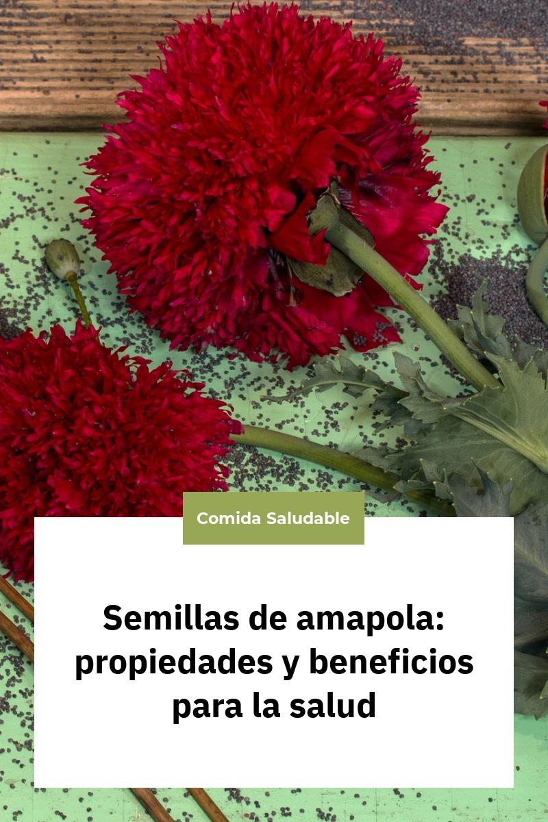 Semillas de amapola: propiedades y beneficios para la salud