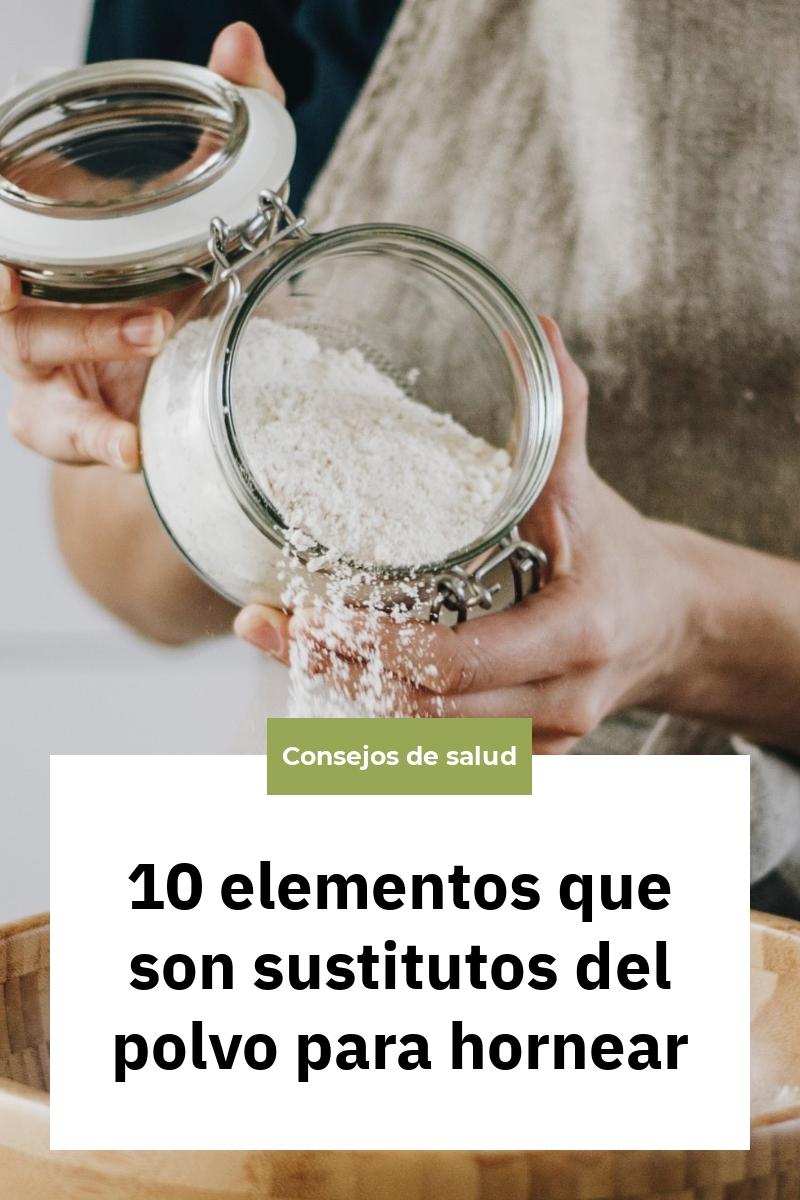 10 elementos que son sustitutos del polvo para hornear