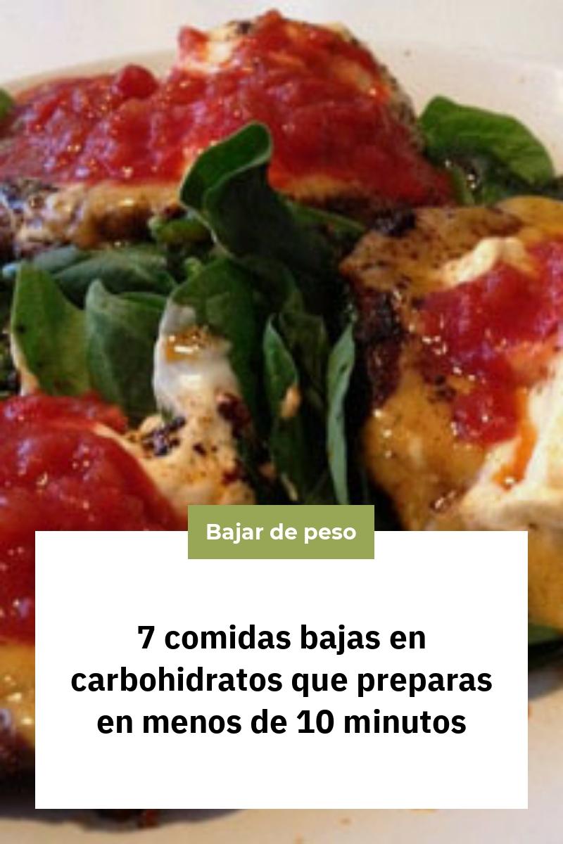 7 comidas bajas en carbohidratos que preparas en menos de 10 minutos