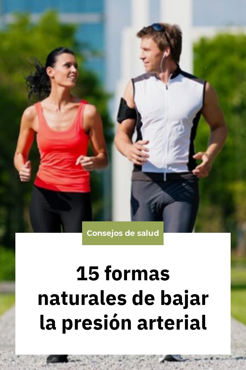 15 formas naturales de bajar la presión arterial